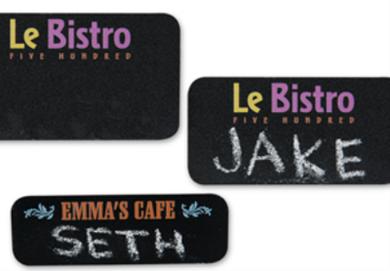 Full Color Chalk Badges