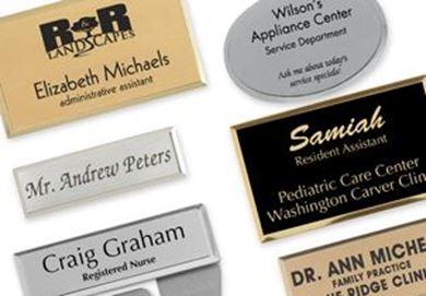Engraved Metallic Badges