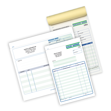 Customer Sales and Purchase Order Forms