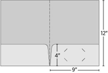 One Color Standard Two Pocket Folder