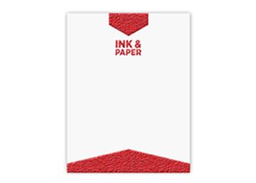 One Standard Spot Color Letterhead - Raised Print