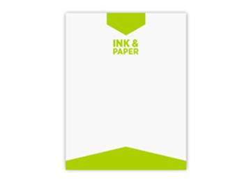 One PMS Spot Color Letterhead - Flat Print