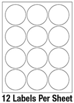 """2 1/2"""" Diameter Circle 1 Color - 12/sheet"""