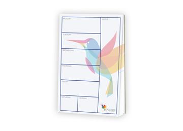 Memo Pad 5.5 x 8.5, White 60 lb. Text  with 25 Sheets per Pad