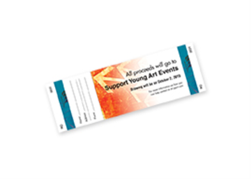 1-Sided Horizontal Event Ticket