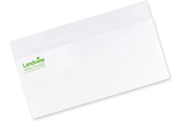 One PMS Spot Color Envelopes - Raised Print