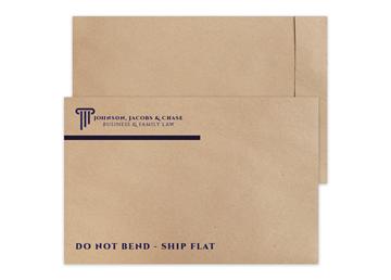 "Custom TerraBoard™ Envelope, 12-1/2"" x 19"", 1 Standard"