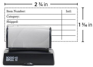 2000 Plus® HD 50 Pre-Inked Stamp