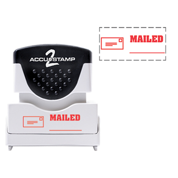 Accu Stamp® 2 One Color Stock Stamps Mailed w/ Line
