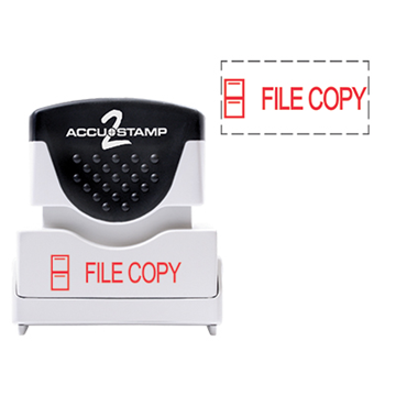 Accu Stamp® 2 One Color Stock Stamps File Copy