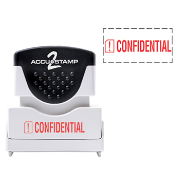 Accu Stamp® 2 One Color Stock Stamps Confidential