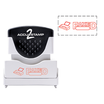 Accu Stamp® 2 One Color Stock Stamps Faxed w/ Bubble
