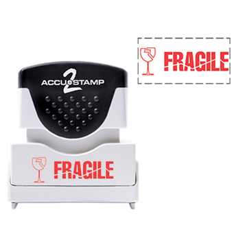 Accu Stamp® 2 One Color Stock Stamps Fragile