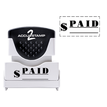 Accu Stamp® 2 One Color Stock Stamps Paid w/ Line