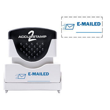 Accu Stamp® 2 One Color Stock Stamps Emailed w/ Line