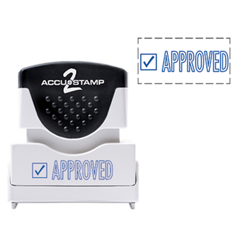Accu Stamp® 2 One Color Stock Stamps Approved