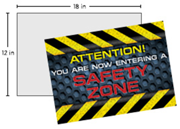 """Full Color Repositionable Floor Decal 12"""" X 18"""""""