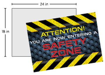 """Full Color Repositionable Floor Decal 18"""" X 24"""""""