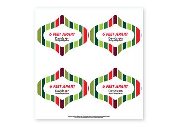 Custom Floor Decal, Ornament 6, Set of 4