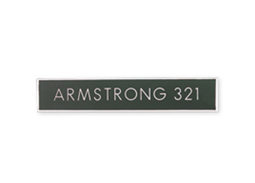 """Engraved Plastic Sign, 1"""" x 4"""""""