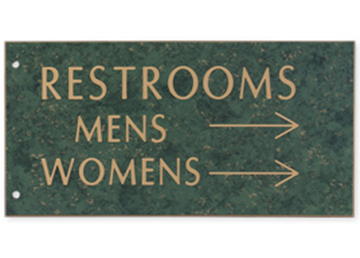 """Engraved Extended Wall Sign Only, 4"""" x 8"""""""