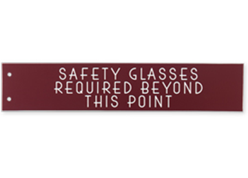 """Engraved Extended Wall Sign Only, 2"""" x 10"""""""
