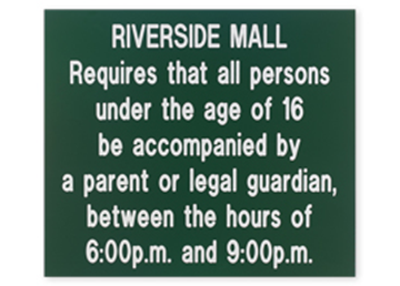"""Engraved Plastic Sign, 12"""" x 14"""""""