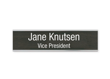 "Engraved Sign with Metal Flush Wall Mount Holder, 2"" x 8"""