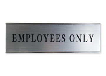 "Engraved Sign with Metal Flush Wall Mount Holder, 3"" x 8"""