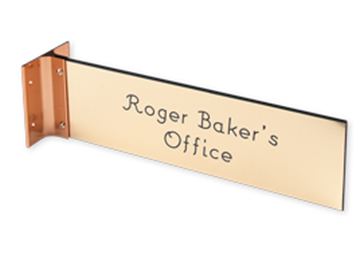 """Engraved Sign with Extended Wall Sign Holder, 3"""" x 10"""""""