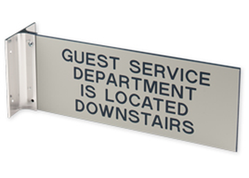 """Engraved Sign with Extended Wall Sign Holder, 4"""" x 10"""""""