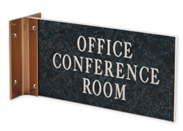 """Engraved Sign with Extended Wall Sign Holder, 4"""" x 8"""""""