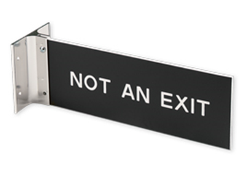 """Extended Wall Holder with Engraved Sign, 3"""" x 8"""""""