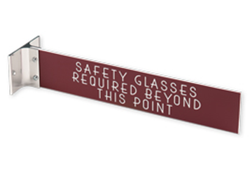 """Engraved Sign with Extended Wall Sign Holder, 2"""" x 10"""""""