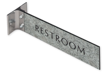 """Engraved Sign with Extended Wall Sign Holder, 2"""" x 8"""""""