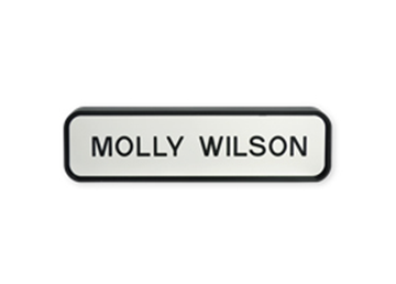 "Designer Wall Sign with Holder, 1 11/16"" x 7 11/16"""