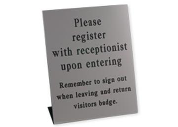 """Engraved Pedestal Sign, 12"""" x 10"""""""