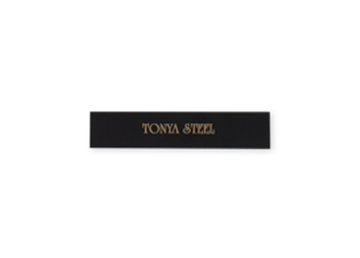 "Engraved Black/Gold Metal Plate, 1/2"" x 2 1/2"""