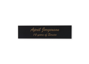"Engraved Black/Gold Metal Plate, 3/4"" x 3"""