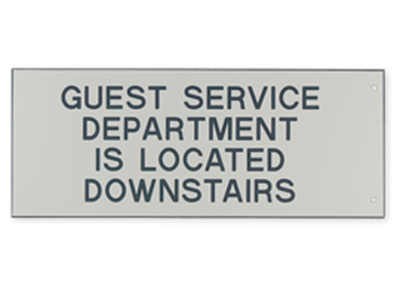 """Engraved Extended Wall Sign Only, 4"""" x 10"""""""
