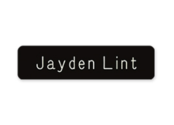 "Engraved Plastic Name Badge, 3/4"" x 3"""