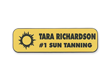"Engraved Plastic Name Badge, 1"" x 3 1/2"""