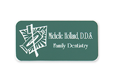 "Engraved Plastic Name Badge, 2"" x 3"""