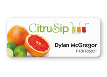 """Full Color Name Badge - 1 1/4"""" x 3"""""""
