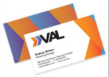 Full Color Flat Standard Business Card - Front & Back