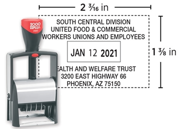 2000 Plus® Self-Inking 2660   Heavy Duty Dater
