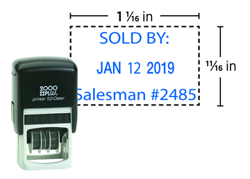 2000 Plus® Self-Inking 52  Economy Plastic Dater