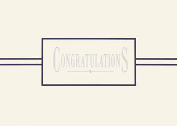 Esteemed Congratulations