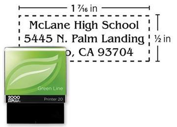 2000 Plus® Self-Inking Green Line Printer 20 Stamp