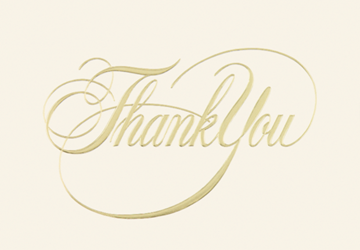 Formal Thank You